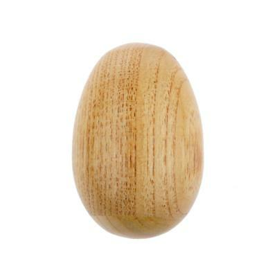 Wood Color Wooden Egg Baby Toy Music Shaker Maraca Instrument Christmas Gift