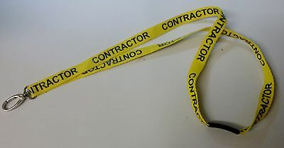 Job lot 25 YELLOW CONTRACTOR LANYARDS wholesale lanyard bulk neck strap identity