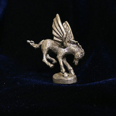 Vintage Gallo Miniature Mythical Pewter Flying Pegasus Horse Figurine Statue