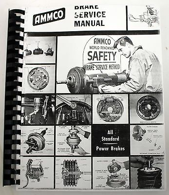 Ammco Brake Service Manual Complete Hydraulic Brake System Servicing  Rebuilding