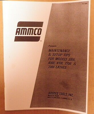 Ammco 3000, 4000, 4100 & 7000 Brake Lathe Maintenance and Set-Up Manual Guide