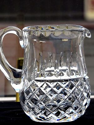 "Galway Crystal Cut Glass ""rathmore"" Pattern Milk Jug"
