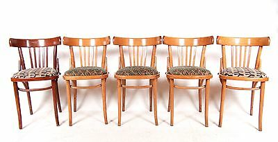 5 Vintage Dining Chairs Bentwood Kitchen Chairs Set Five Retro Chairs