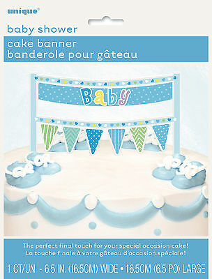 Baby Shower Party Supplies Boy Blue Cake Banner To Put On Any Baby Shower Cake