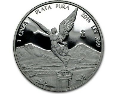 2016 1 oz Mexican Libertad Silver Proof Coin   In Capsule