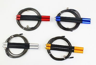 Crossfit  Speed Jump Rope 3m Cable Wire Skipping Jump Rope for Double Unders