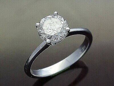 Certified 1.56 ct E SI1 Round Solitaire Diamond Engagement Ring 14k White Gold