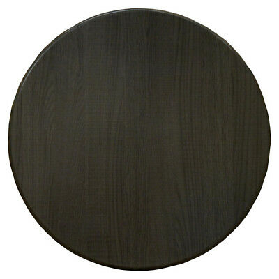 Table Top Restaurant Cafe Antiscratch Isotop Dining Outdoor 60cm Round Dark Oak