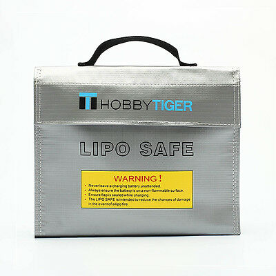 HOBBYTIGER Lipo Battery Bag Fire Retardant Safe Charging Large Sack(240x190x65)