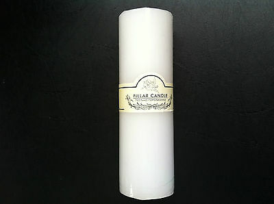 Brand New Unscented Pillar Wedding Candles White Long Burning Best Quality Sale!