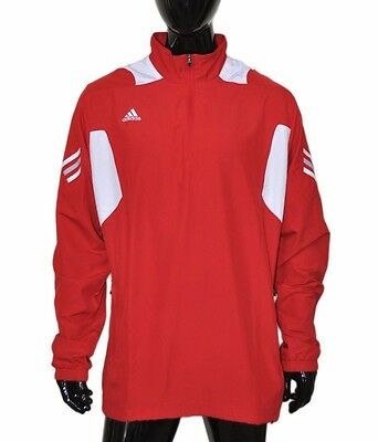 df8146956dc3 Adidas Football Scorch Jacket Pullover 1 4 Zip Athletic Men s Large L Univ  Red