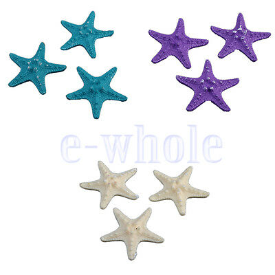 3 Resin Starfish Tropical Ornament Beach Ocean Sea Star Home Wall Decor DT