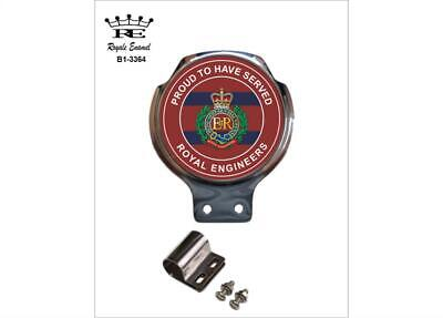 Royale Car Scooter Bar Badge + Fittings - CORPS ROYAL ENGINEERS PROUD - B1.3364