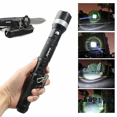 T6 6000LM SOS Mode Police Tactical LED Flashlight Military 18650 Lamp Torch