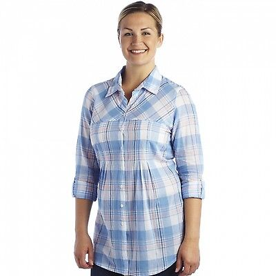 Regatta Starbright Womens Lightweight Cool Cotton Casual Summer Shirt Blue