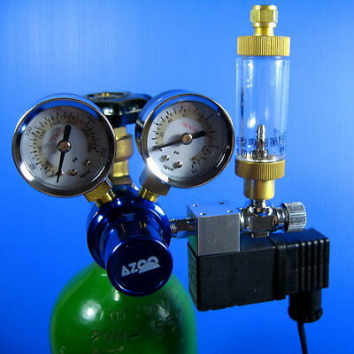 Co2 Pressure Regulator With Magnetic Valve + Bubble Counter Check Valve Solenoid