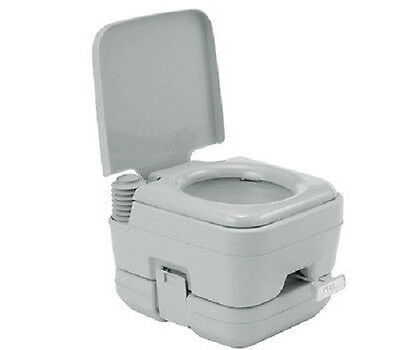 NEW Compact Size 10L Square Light Gray Portable Toilet - Camping Potty Restroom