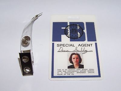 Agent Dana Scully ID - Karte aus der Serie Akte X , ID Badge , Special Agent , S
