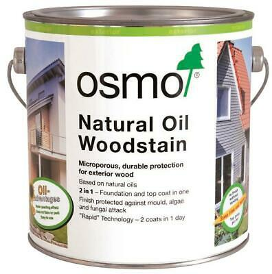Osmo Natural Oil Woodstain Protective finish for Exterior Wood Multiple Finishs