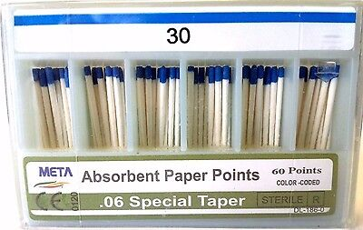META ABSORBENT PAPER POINTS .06 SPECIAL TAPER #30 (60 PTS) paperpoint