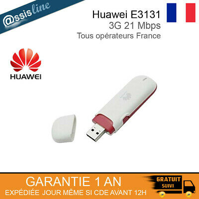 HUAWEI E3131 CLE MODEM 3G INTERNET DEBLOQUEE - TOUS OPERATEURS FRANCE 3G+ 21Mbps