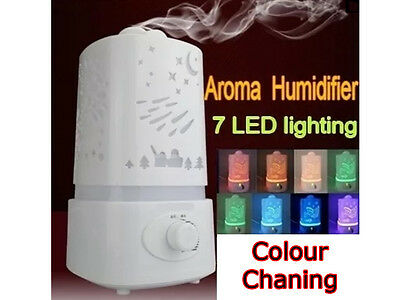 New Portable 1.5L 7 Colour Led Ultrasonic Air Humidifier Purifier Aroma Diffuser