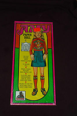 "Vintage Toy Factory AMY HUGE 14"" Paper Doll Kit NEW & SEALED NOS Peel & Stick"