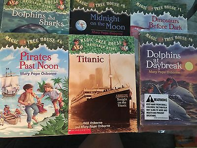 Lot Of 6 Magic Tree House By Mary Pope Osborne Popular Chapter