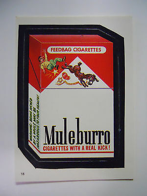 VINTAGE! 1986 Topps Wacky Packages Trading Card #16-Muleburro-Marlboro