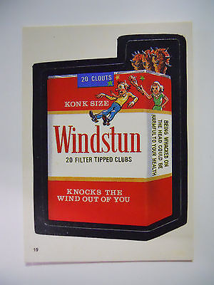 VINTAGE! 1986 Topps Wacky Packages Trading Card #19-Windstun-Winston