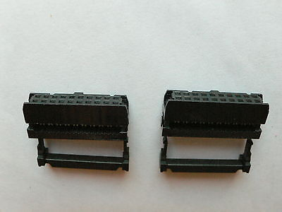 10 x 2x10 Female IDC Connector with Strain relief, 2.54mm pitch, FC-20