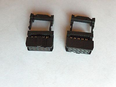 10x 2x5 Female IDC Connector with Strain Relief, 2.54mm. FC-10
