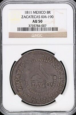 War For Independence 8 Reales 1811 ZAC NGC AU50 KM190 28813