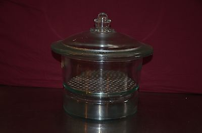 """Wheaton 10"""" ID Glass Scheibler Non Vacuum Large Desiccator & 235mm Metal Plate"""