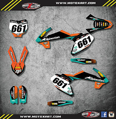 KTM 65 2016 2017 - VITAL STYLE - stickers decals  Full Graphics custom kit decal
