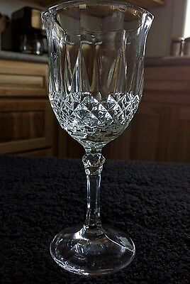 "2 Cris D'Arques Durand LONGCHAMP Wine Glasses 6-5/8"" Set Of Two"
