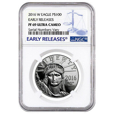 2016-W 1 oz Platinum American Eagle Proof Coin NGC PF 69 UCAM Early Releases
