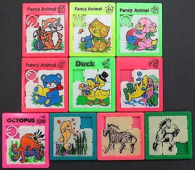 Slide Puzzle - Fancy Animal - 10 x Schiebe Puzzle Spielzeug Tiere (Lot-IS-11