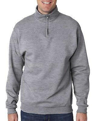 Jerzees Men's NuBlend 1/4-Zip Cadet Collar Long Sleeve Solid Sweatshirt 995