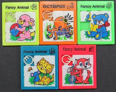 Slide Puzzle - Fancy Animal - 5 x Schiebe Puzzle Spielzeug Tiere (Lot-IS-15
