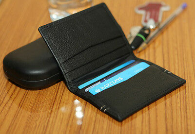 Men's Luxury Slim High Quality Real Leather Wallet Id/credit Card Holder Case