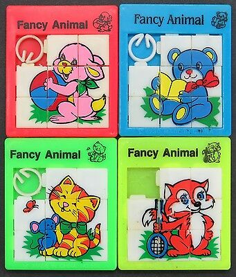 Slide Puzzle - Fancy Animal - 4 x Schiebe Puzzle Spielzeug Tiere (Lot-IS-18