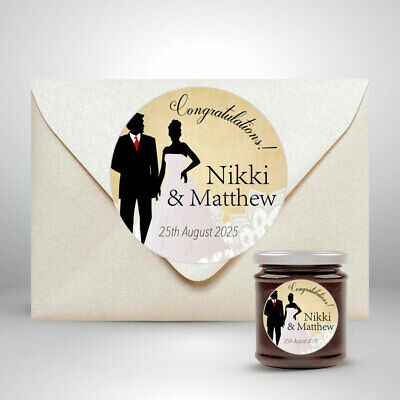 35 Personalised Mini Jam Pot Lid Jar Labels Preserves Conserve Wedding Favours