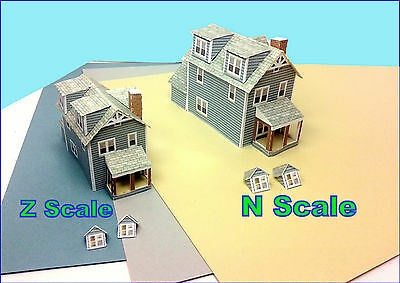 Z Scale House - BHCZ#1 Card Stock Model Kit