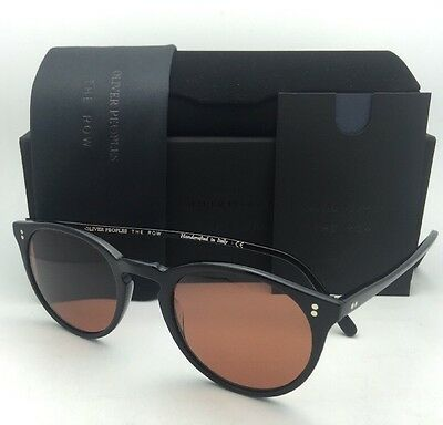 70c852e98b2d OLIVER PEOPLES The ROW Sunglasses O MALLEY NYC 5183SM 100553 Black w   Persimmon