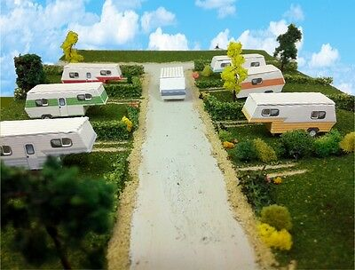 Z Scale Buildings - Mobile Home Trailer Park Camper Homes Cardstock kit set
