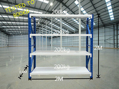 800kgs 2m x 2m x 0.6m Heavy Duty Garage Racking Warehouse Shelving Out of stock