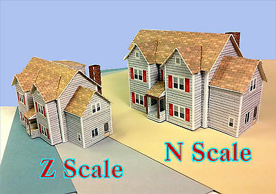 Z Scale Building House - Card Model House EH1