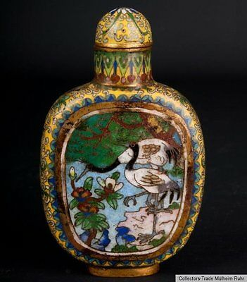 China 20 Jh. -A Chinese Cloisonne Enamel Snuff Bottle - Cinese Chinois Tabatière