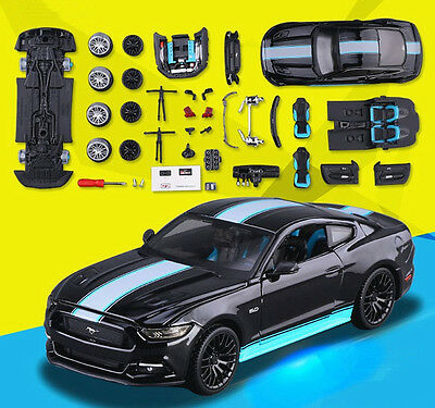 Maisto 1:24 Ford Mustang GT Diecast Assembly DIY KIT Metal Model Car Vehicle